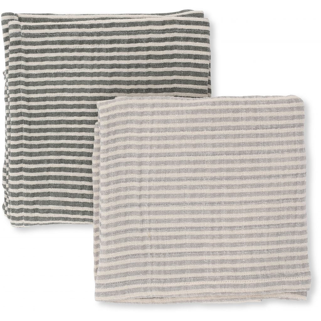 Striped Muslin Cloth 2 Pack