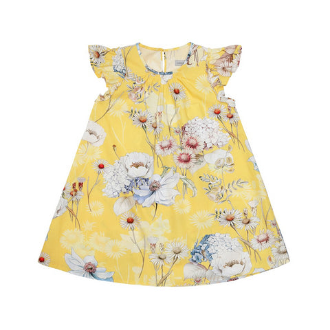 Yellow Flower Dress (No. 101, Fabric No. 22)