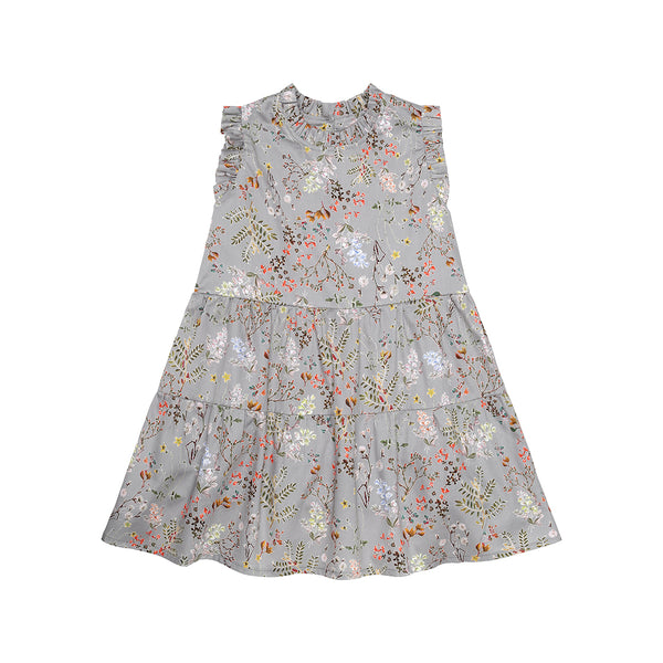 Grey Flower Dress (No. 125, Fabric No. 13)