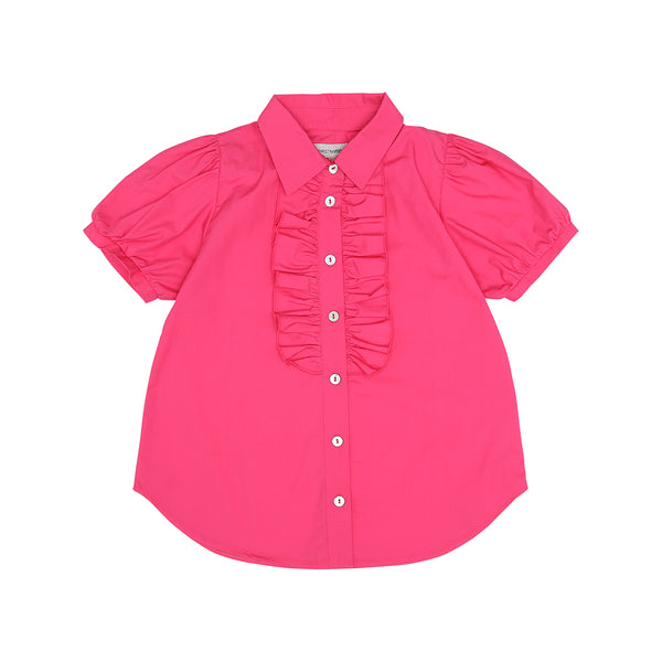 Pink Ruffle Blouse (No. 480, Fabric No. 1)