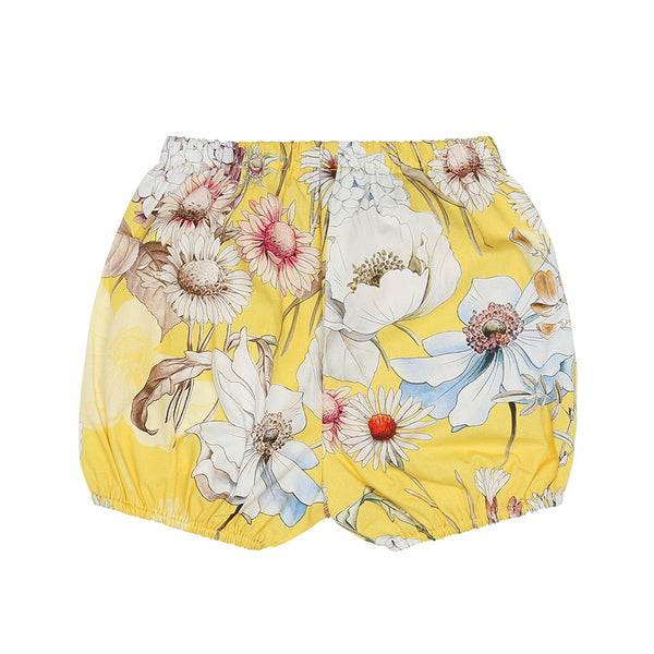 Yellow Flower Baby Shorts (No. 819, Fabric No. 22)