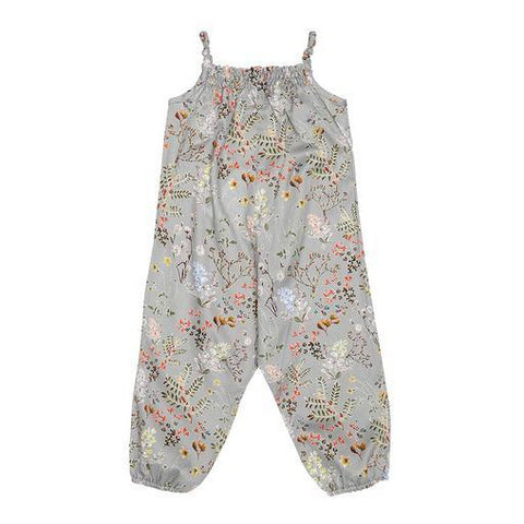 Grey Flower Baby Jumpsuit (No. 834, Fabric No. 13)
