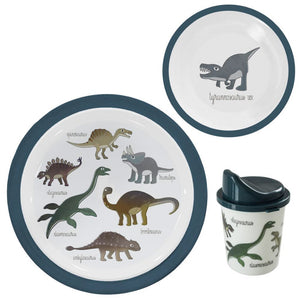 Dino Melamine dinner set