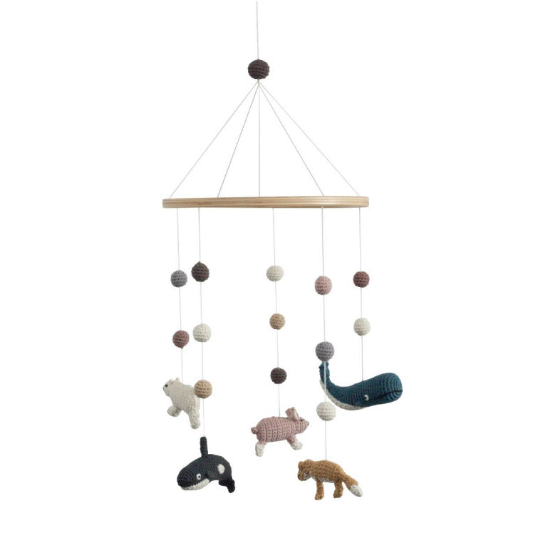 Crochet baby mobile, Arctic animals