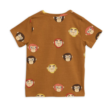 Monkeys Printed Short Sleeve Tee