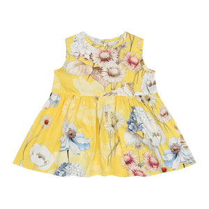 Yellow Flower Baby Dress (No. 831, Fabric No. 22)