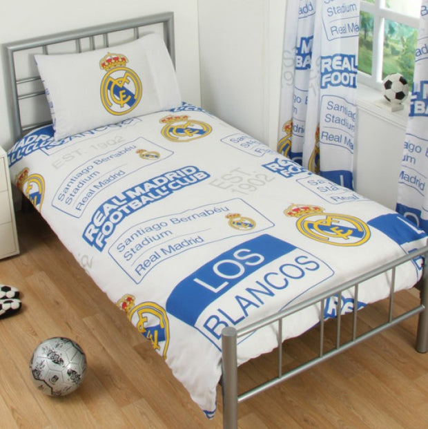 Real Madrid Patch Single Bed Set