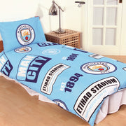 Manchester City Patch Single Bed Set