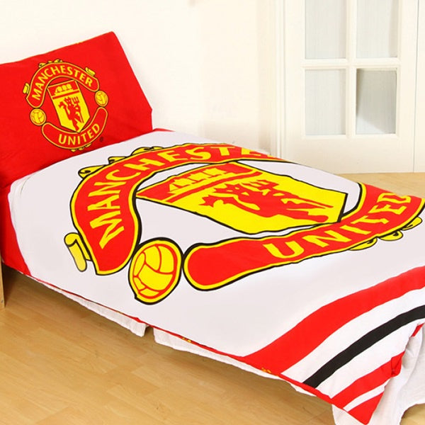 Manchester United Reversible Pulse Single Bed Set