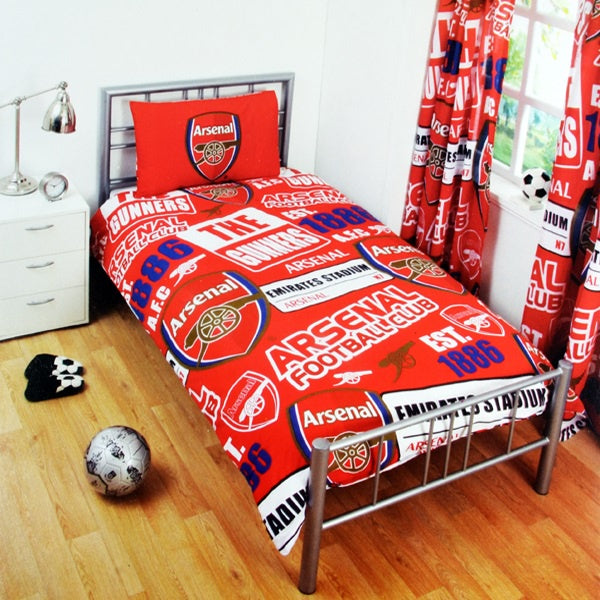 Arsenal Patch Single Bed Set