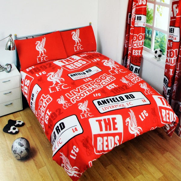 Liverpool Patch Double Bed Set