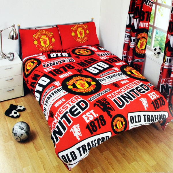 Manchester United Patch Double Bed Set