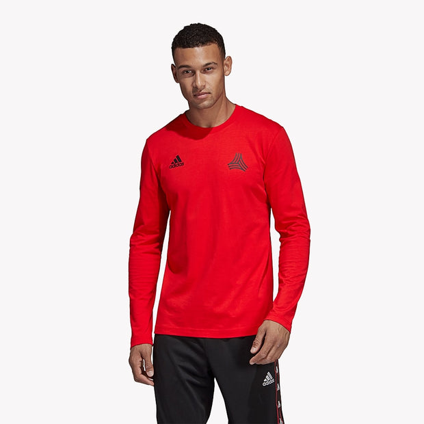 Adidas Tango LS Graphic T-Shirt- Red