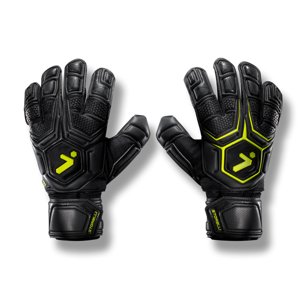 Storelli Gladiator Pro Goalkeeper Gloves- Black/Gold
