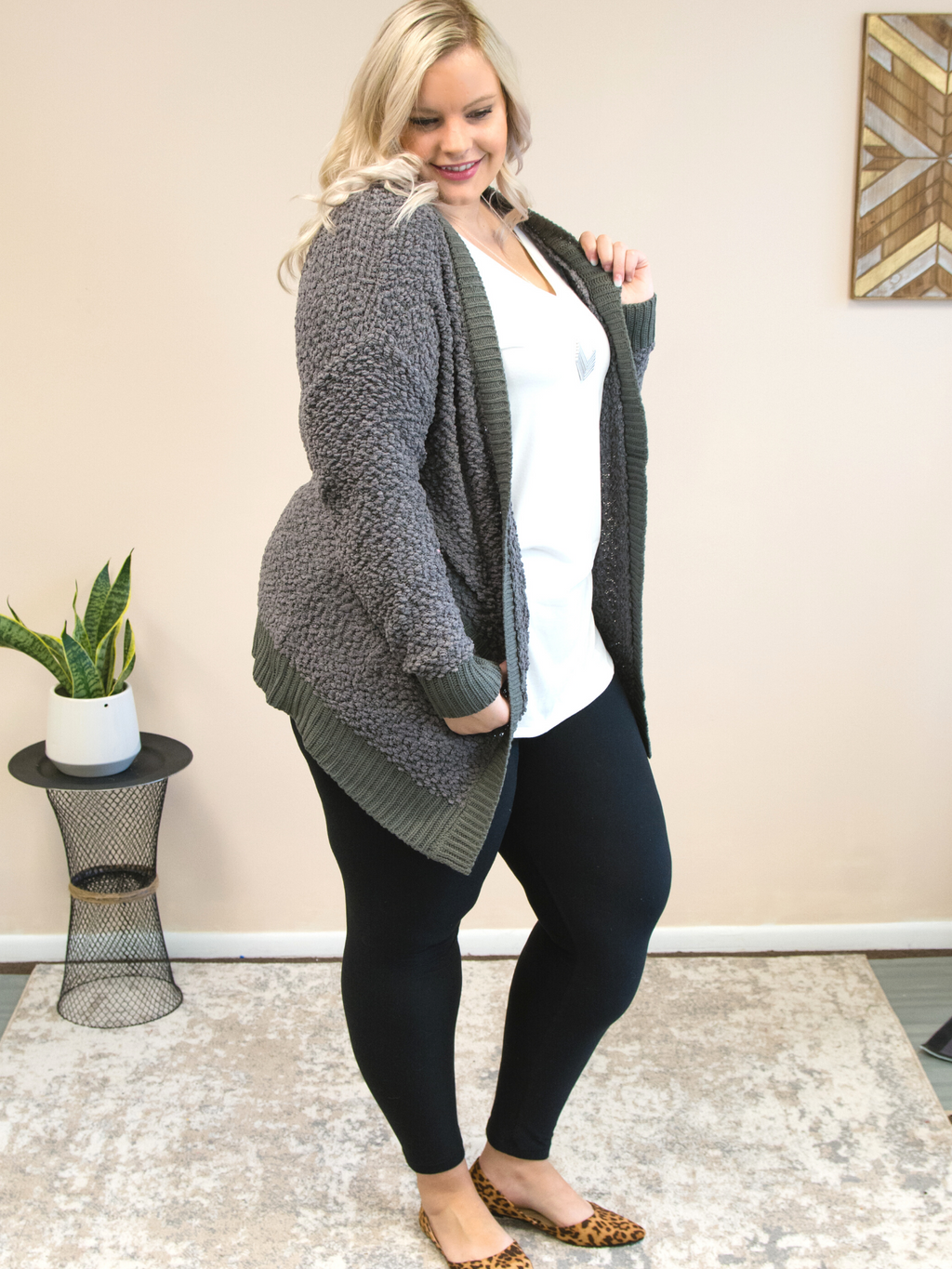 All I Really Want Cardigan | Grey