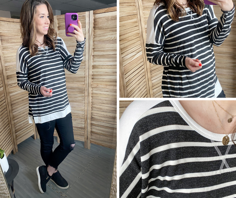 Cozy & Striped Top