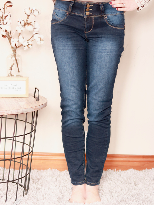Veda Dark Wash Skinnies