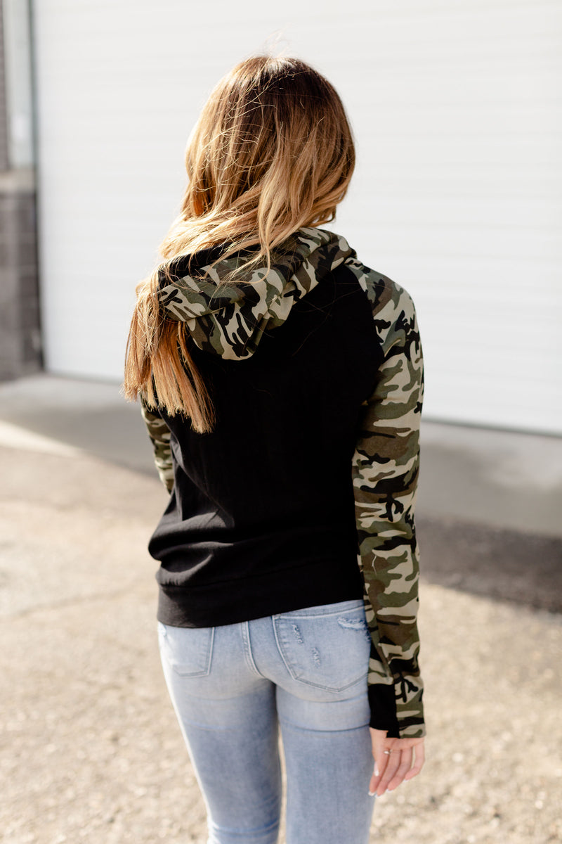 Ampersand Ave Double Hood | Army Vibes
