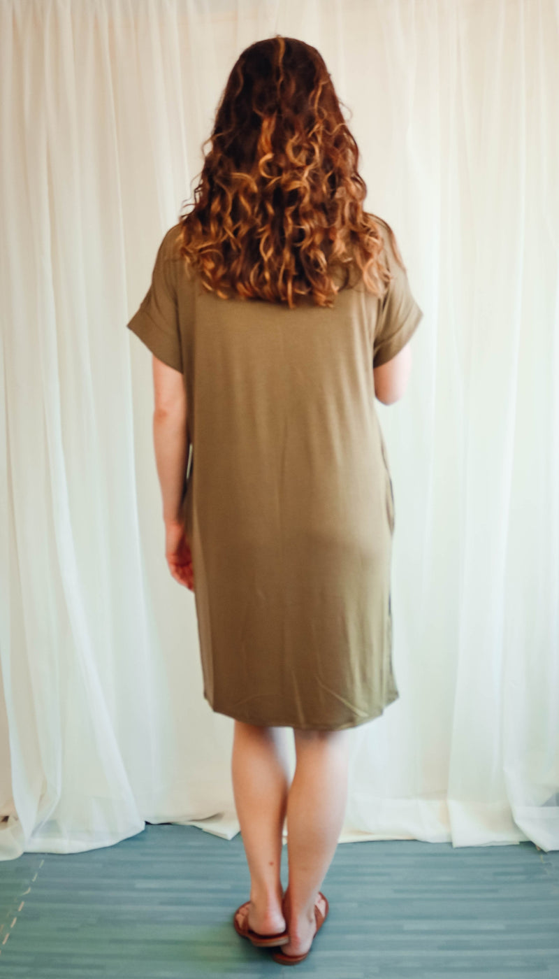 Just Like That Dress (Scoop Neck) | Olive