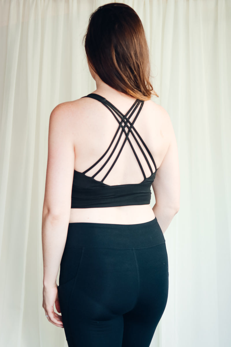 Strappy Sports Bra | Athleisure Collection