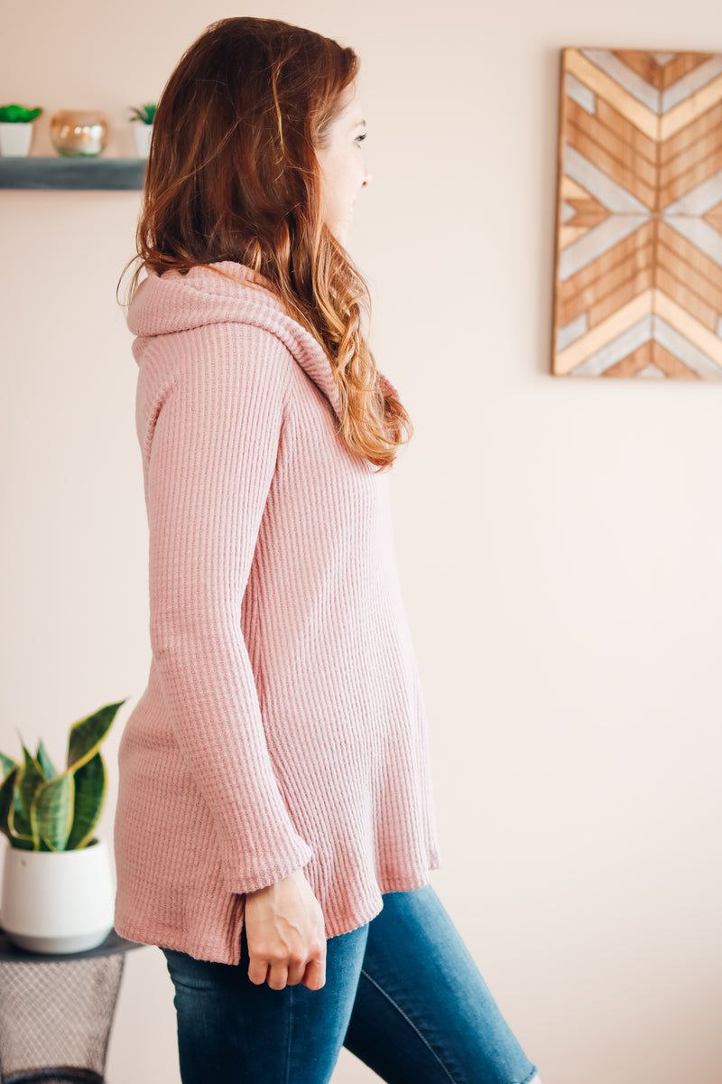 Madison Cowl Tunic | Blush