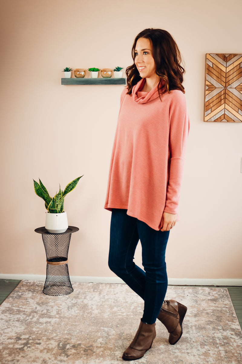 Best Believe Sweater | Dusty Coral