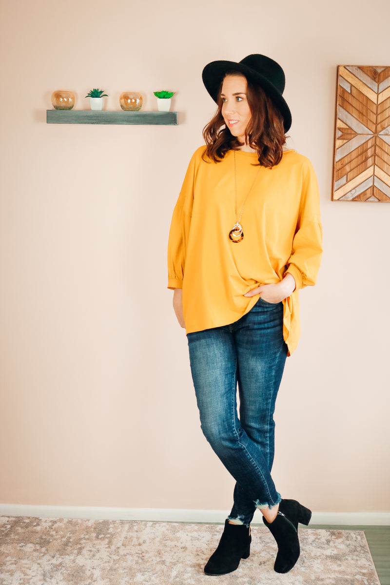 Sienna Top | Goldenrod