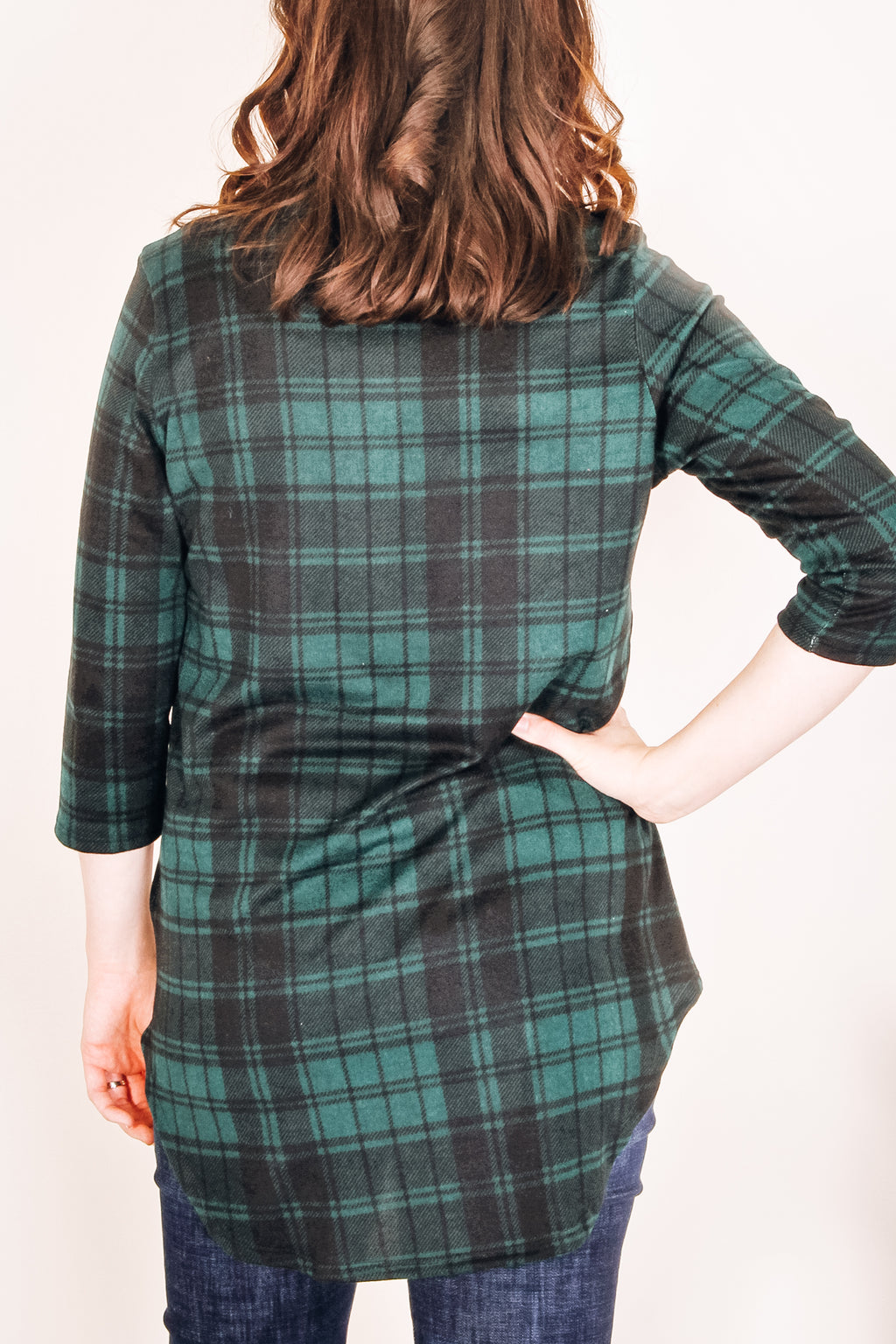 Juniper Plaid Tunic | Hunter Green