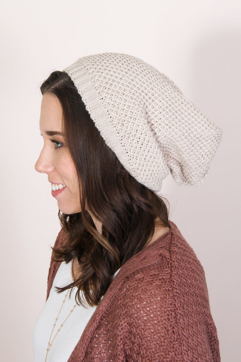 Waffle Slouch Beanie