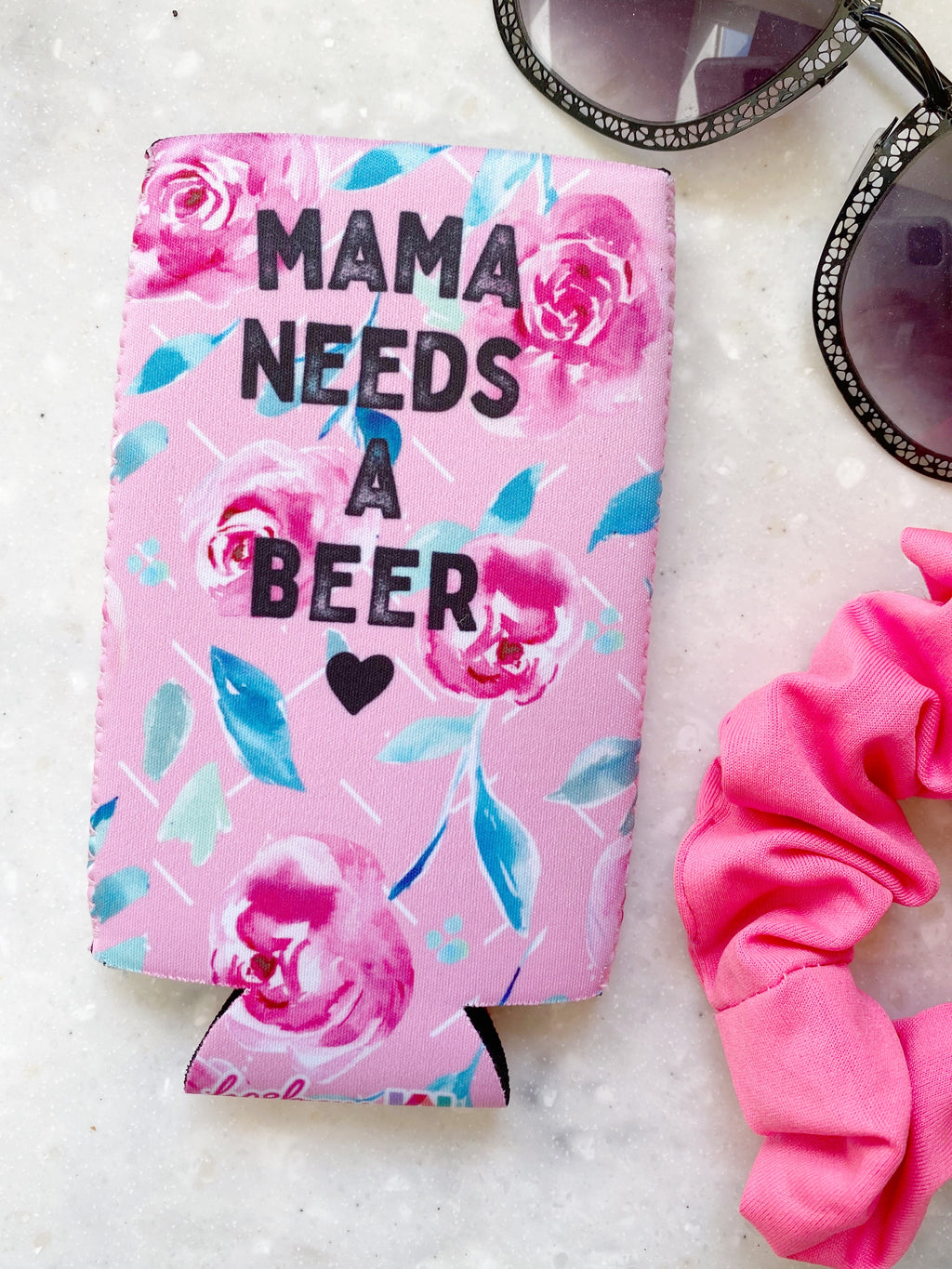Mama Needs a Beer Slim Can Cooler