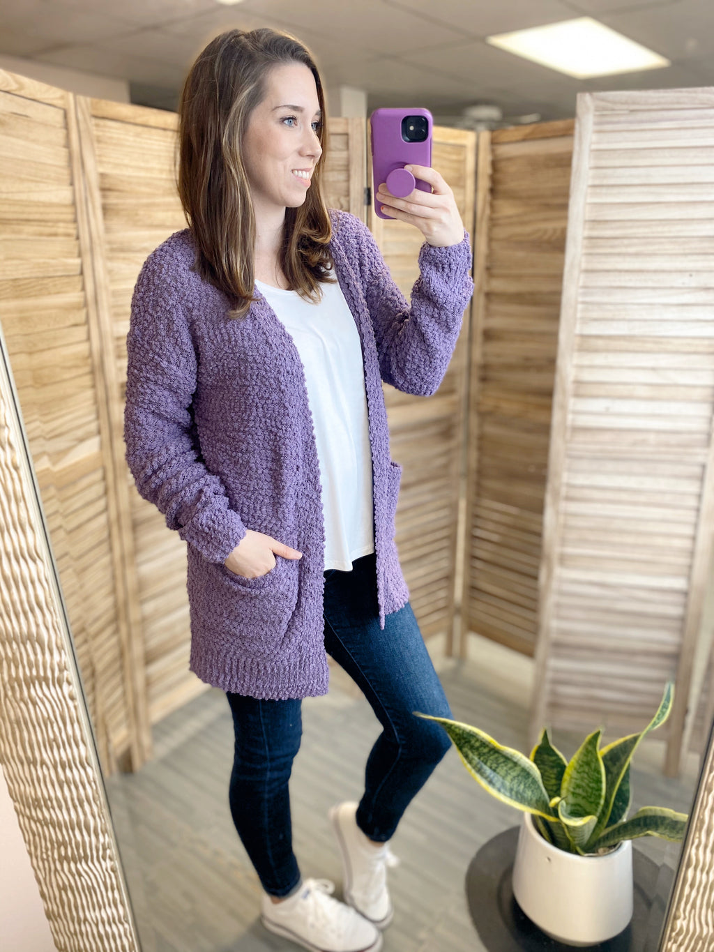 All I Really Want Cardigan | Lilac Grey