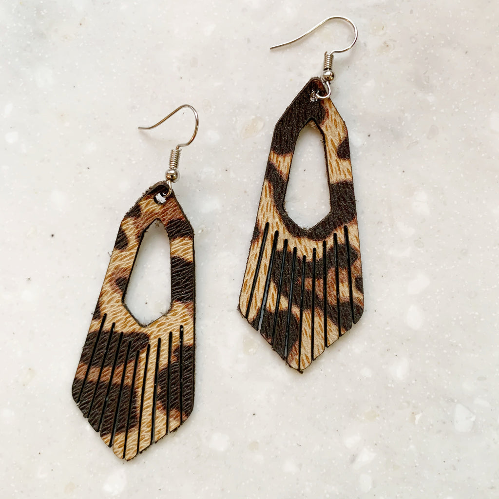 Leather Fringe Earrings | Wild
