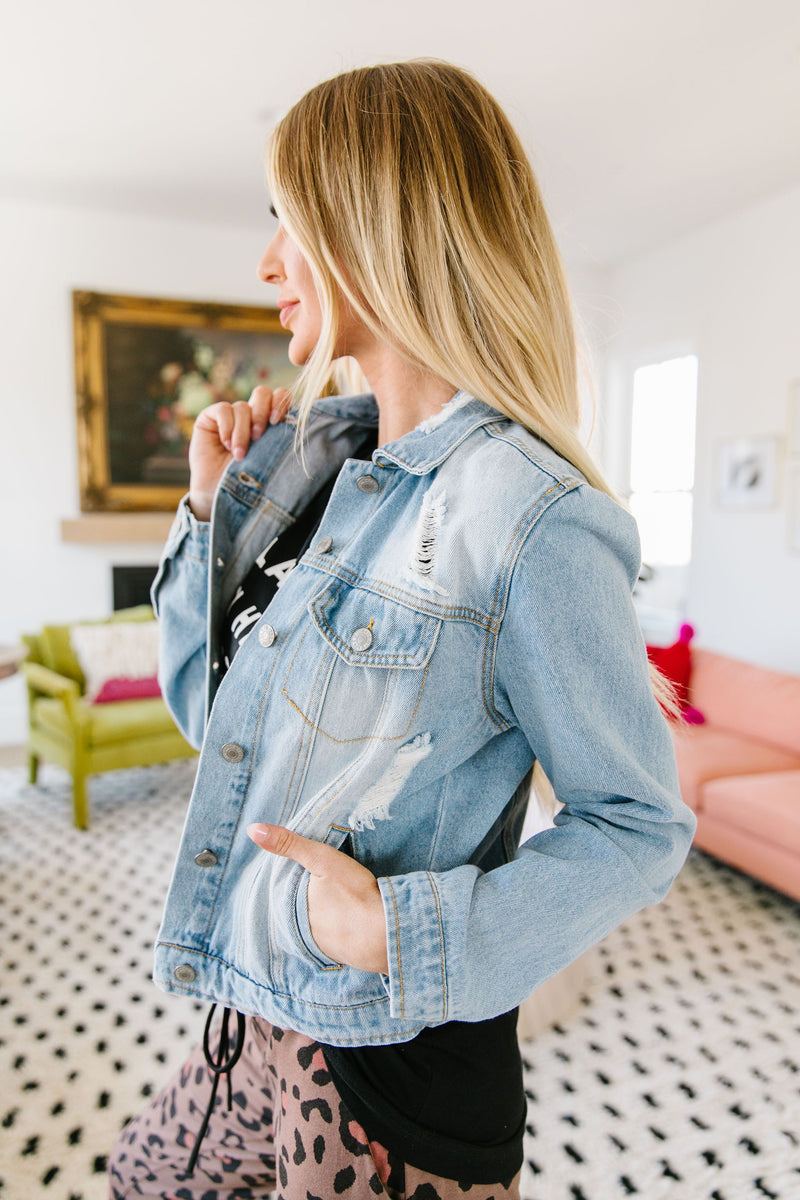 And Then Some Denim Jacket In Light Wash