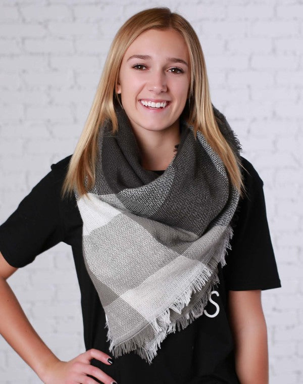 Blanket Scarf | Charcoal