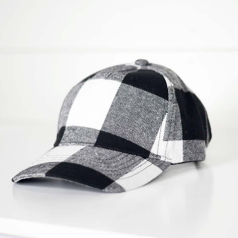 Black & White Plaid Hat