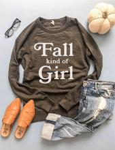 PREORDER | GRAPHIC Sweatshirt - Fall Kind of Girl Charcoal