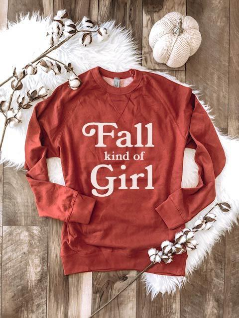 PREORDER | GRAPHIC Sweatshirt - Fall Kind of Girl Spice
