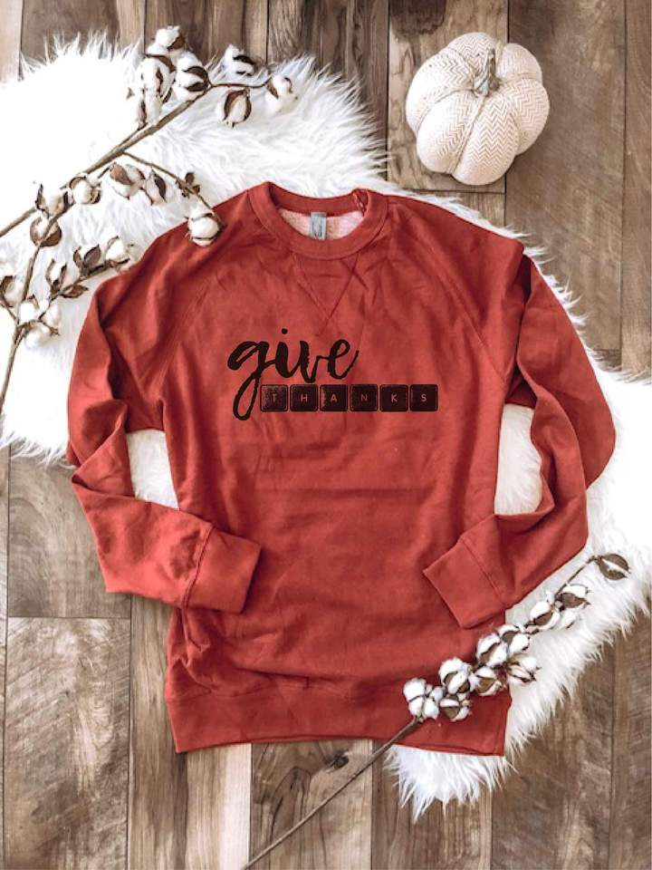 PREORDER | GRAPHIC Sweatshirt - Give Thanks Spice