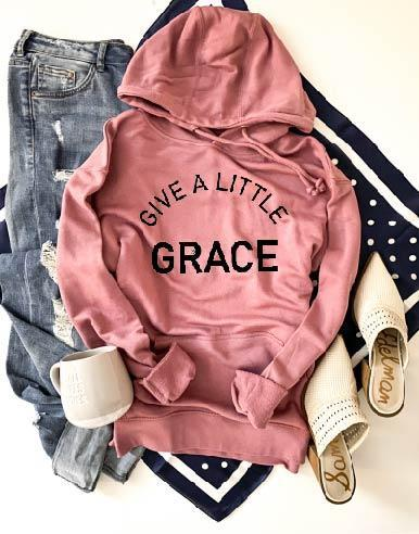 PREORDER | GRAPHIC Hoodie - Give a Little Grace Mauve