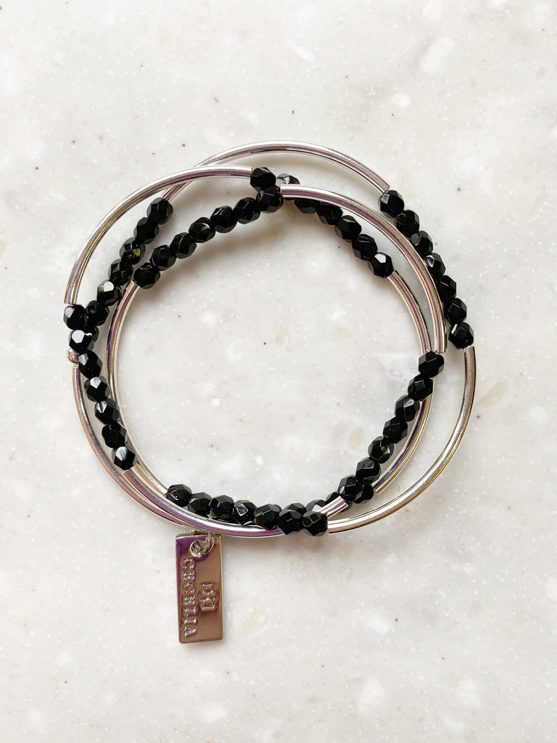 Stretch Wrap Bracelet | Black