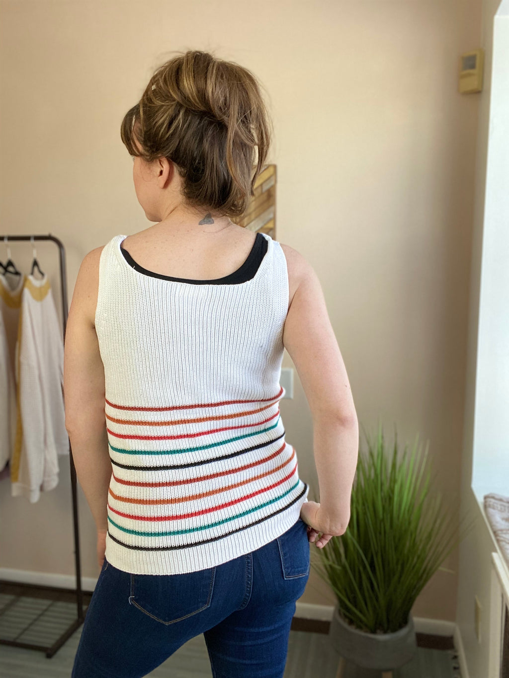 Bexley Striped Knit Tank Top
