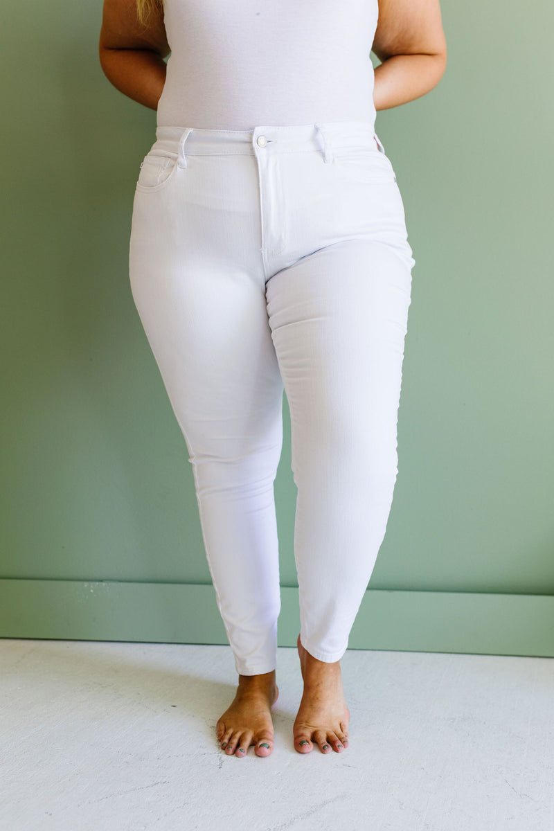 Keeping It Tight White Jeans