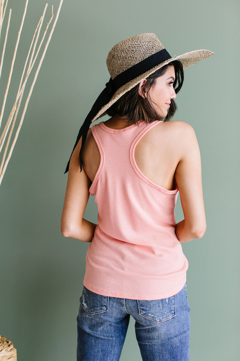 Nobody Puts Baby In The Corner Tank In Blush Peach
