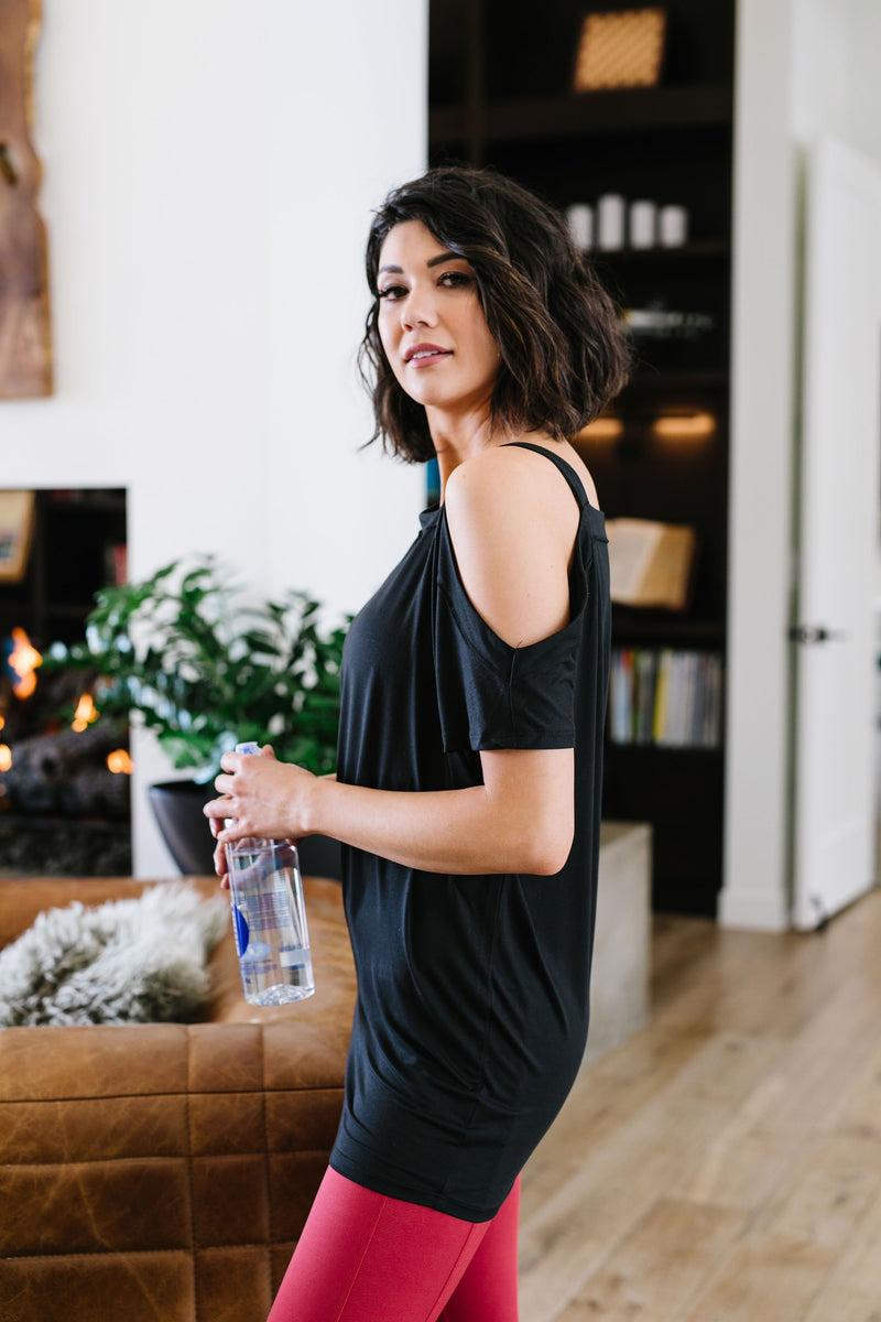 One Shoulder Bare Tunic | Black