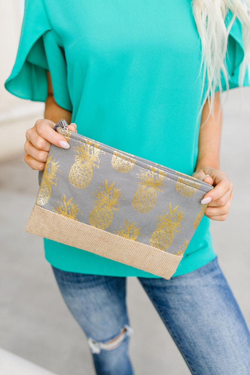Piña Colada Clutch In Gray