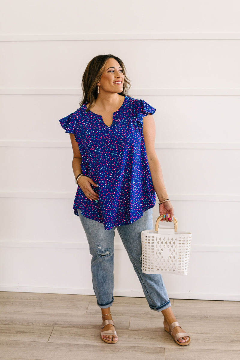 True Blue & Confetti Too Blouse