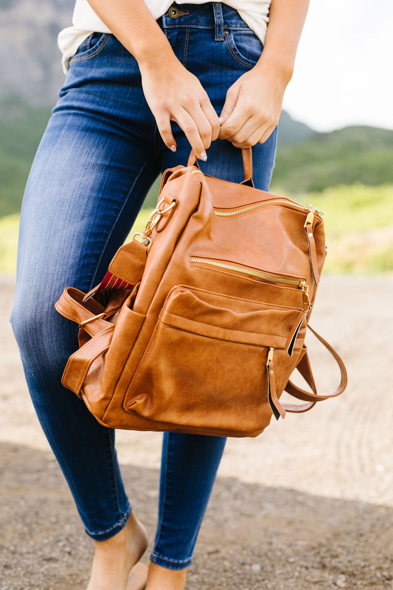 Wanderlust Backpack In Camel