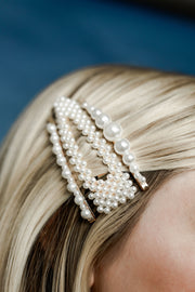 Pearl Hair Clips (Pack of 3) - Welles and Company