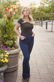 High Waisted Flare Jeans - Welles and Company