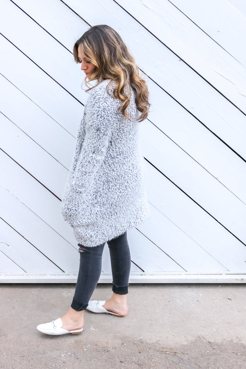 Fuzzy Oversized Cardigan - Welles and Company